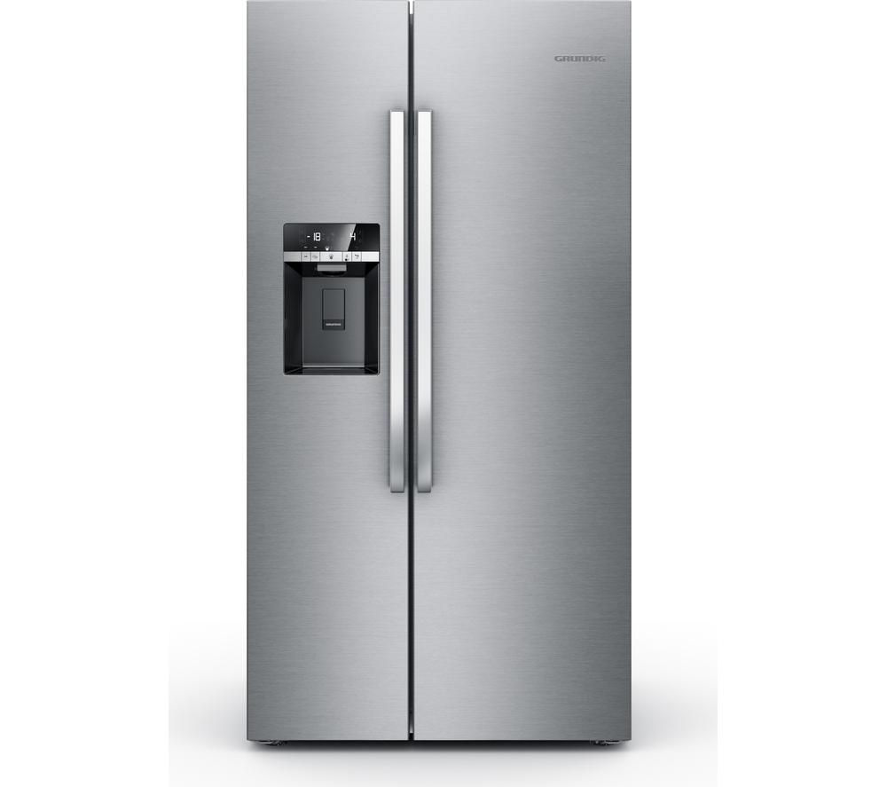 GRUNDIG GSBS13310X American-Style Fridge Freezer - Stainless Steel