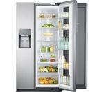 SAMSUNG Food ShowCase RH56J6917SL American-Style Fridge Freezer - Easy Clean Steel