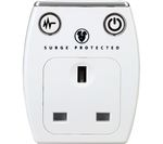 MASTERPLUG Surge Protected 1 Socket Plug Adapter with USB