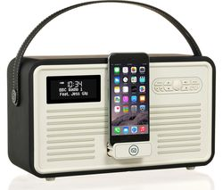 VQ Retro Mk II Portable DAB+/FM Bluetooth Clock Radio - Black