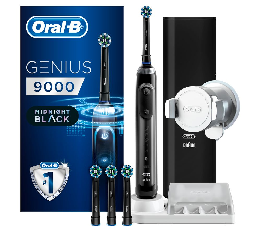 242f05ea4f08cf Buy ORAL B Genius Pro 9000 Electric Toothbrush - Black   Free Delivery    Currys
