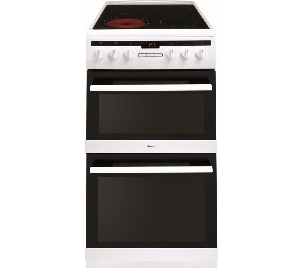 AMICA 508DCE2Ta(W) 50 cm Electric Cooker - White