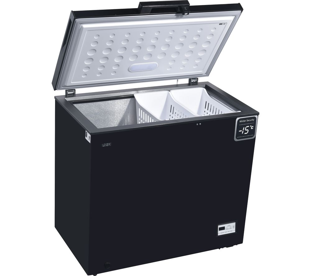 LOGIK L200CFB17 Chest Freezer - Black, Black
