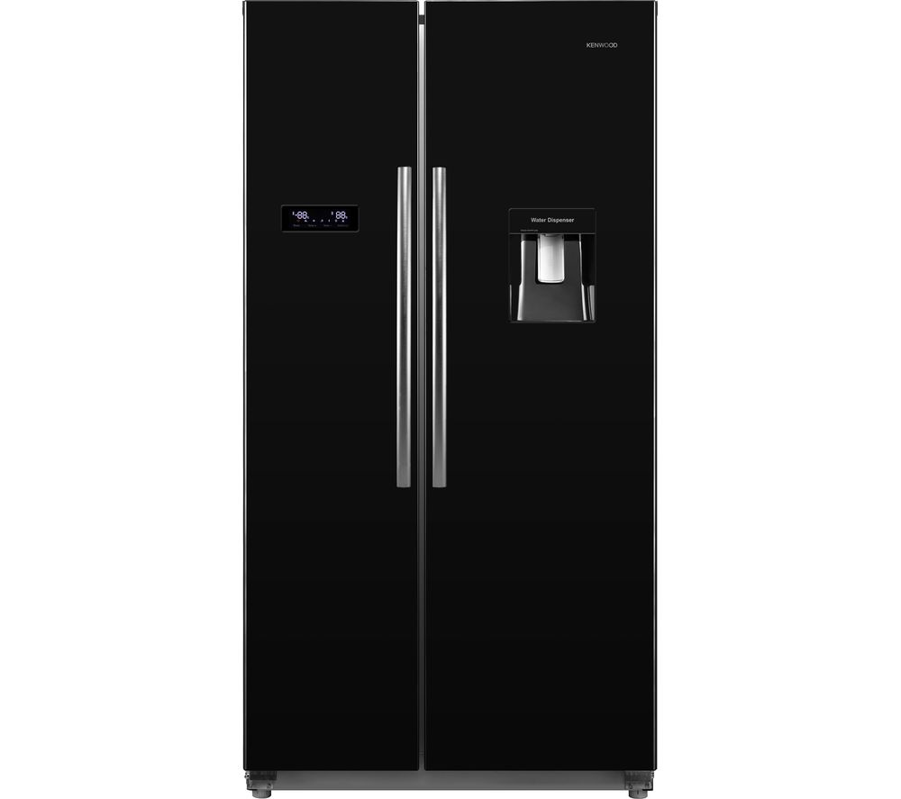 KENWOOD KSBSDB17 American-style Fridge Freezer - Black