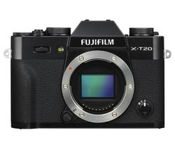 FUJIFILM X-T20 Mirrorless Camera - Black, Body Only