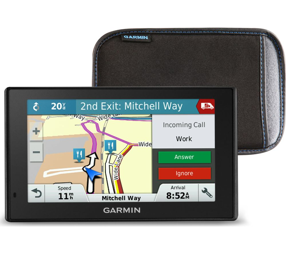"GARMIN DriveSmart 51 LMT-S 5"" Sat Nav & Case - UK & ROI Maps, Red"