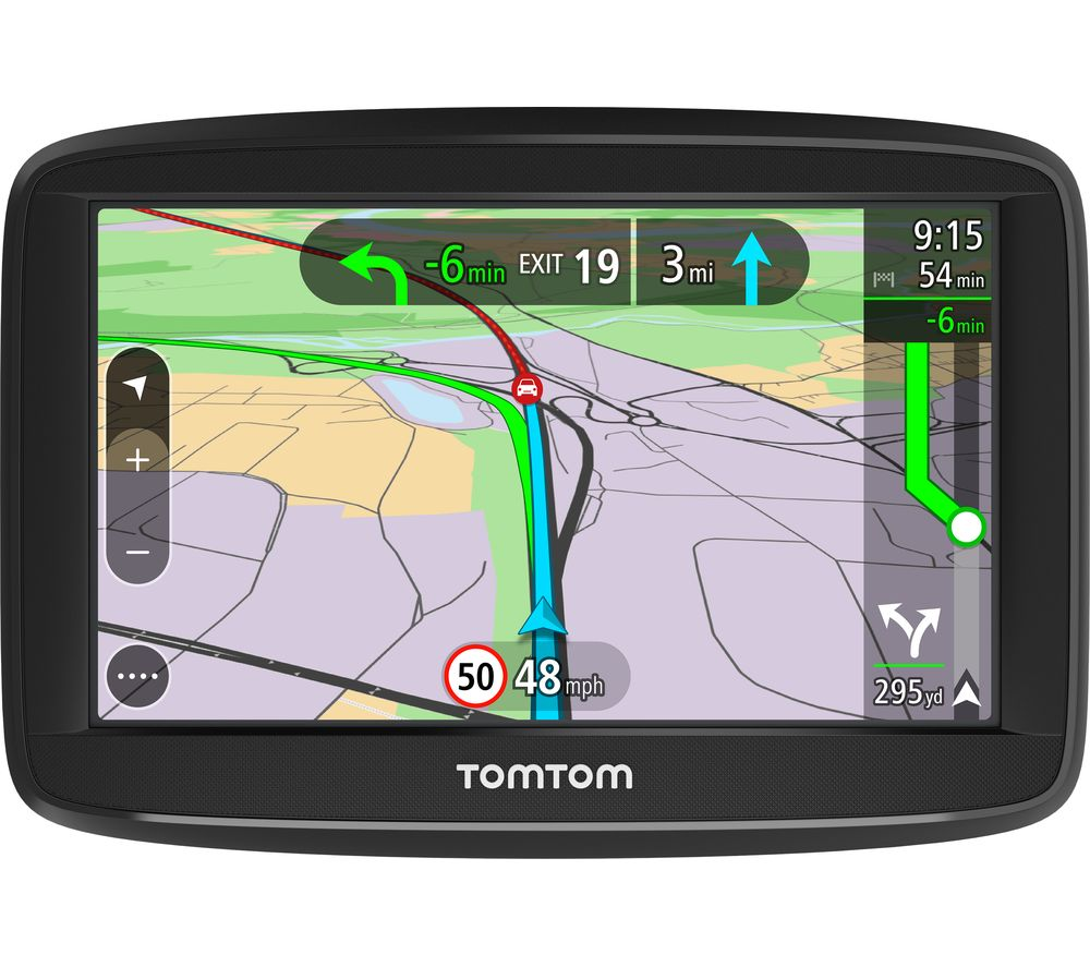 "TOMTOM VIA 52 5"" Sat Nav with Case - Full Europe Maps + Classic 5"" Carry Case - Black"