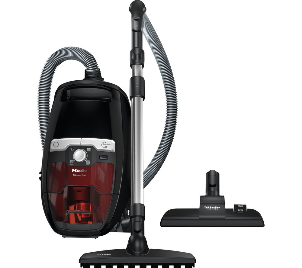 MIELE Blizzard CX1 Pure Power Cylinder Bagless Vacuum Cleaner - Black & Red