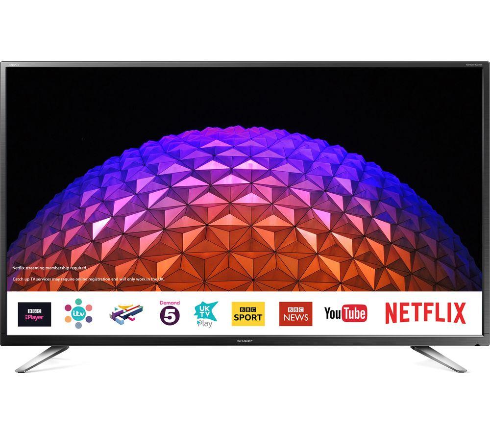 "40"" Sharp LC-40CFG6021KF  Smart LED TV, Gold"