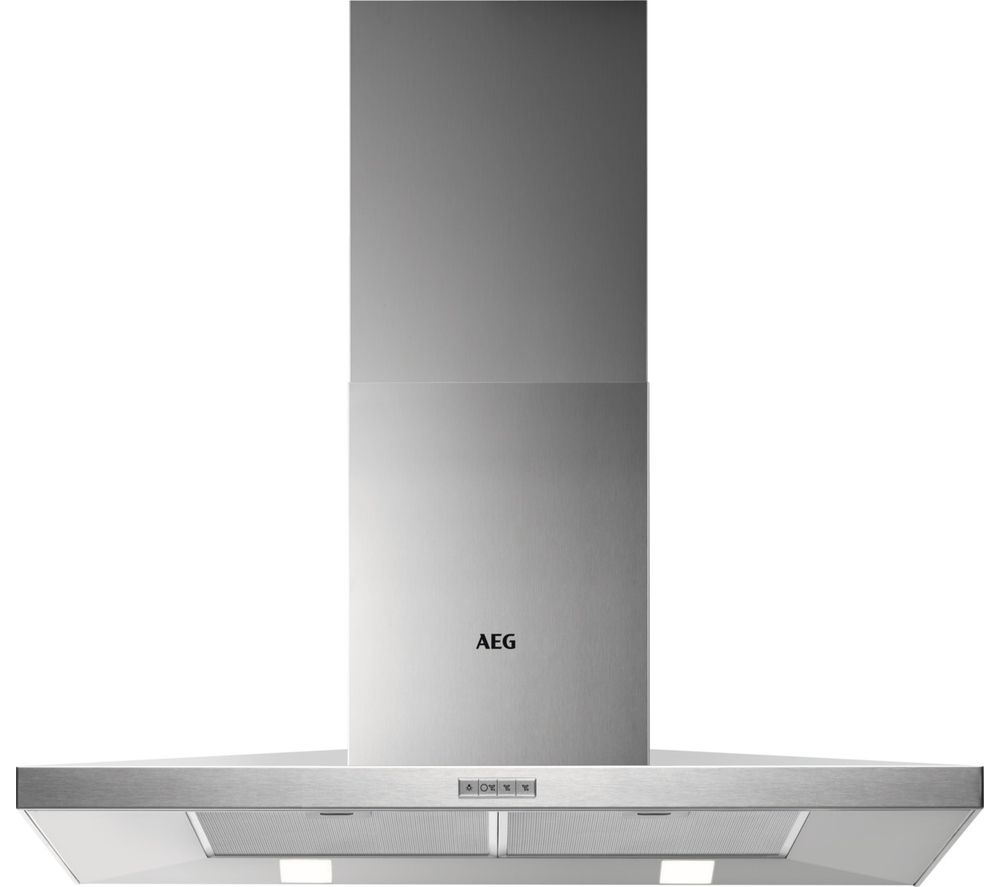 Image of AEG DKB4950M Chimney Cooker Hood - Stainless Steel, Stainless Steel