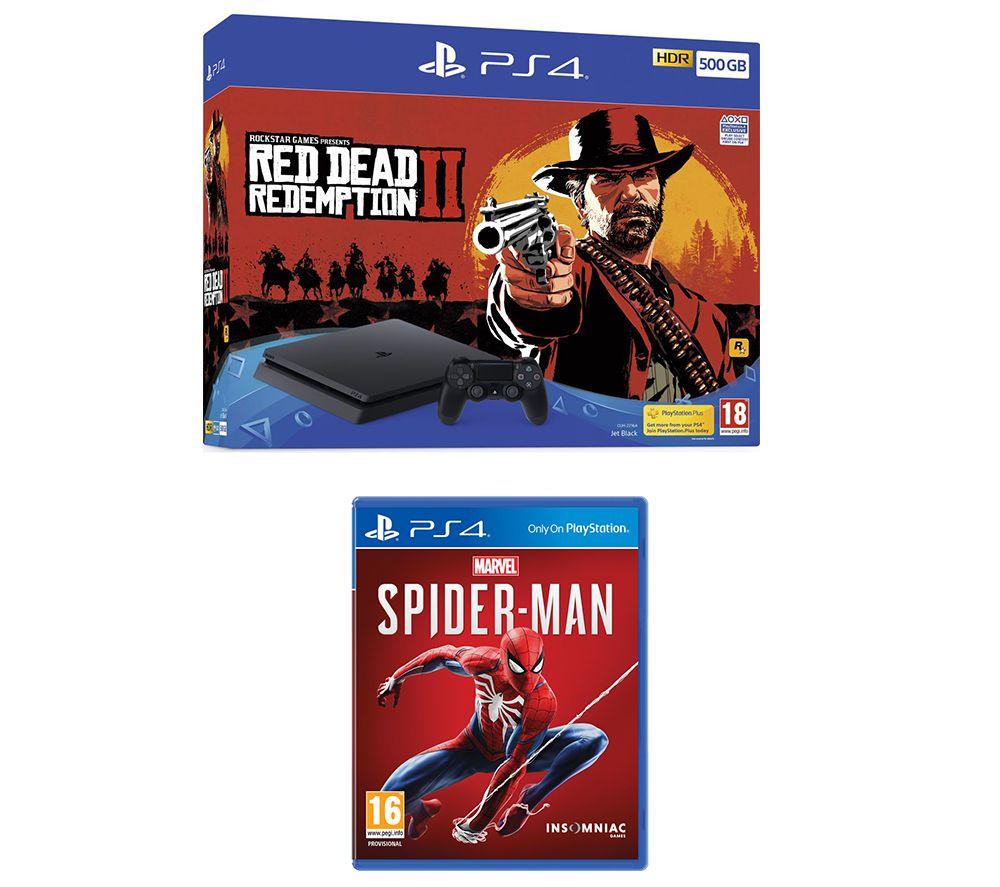 SONY PlayStation 4, Red Dead Redemption 2 & Spider-Man Bundle