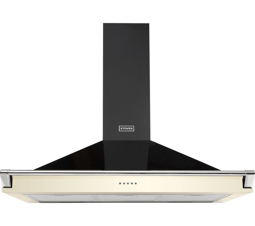 STOVES Richmond S1100 Chimney Cooker Hood - Black & Cream