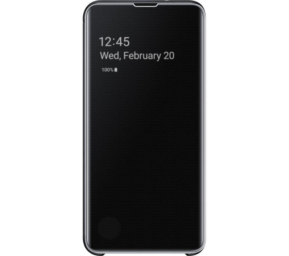 SAMSUNG Galaxy S10e Plastic Clear View Case - Black