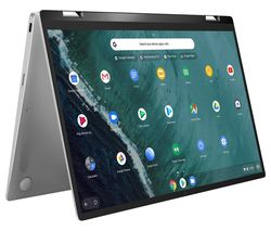 "ASUS Flip C434TA 14"" 2 in 1 Chromebook - Intel® Core™ m3, 128 GB eMMC, Silver"