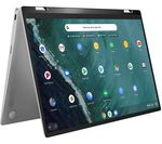£449, ASUS Flip C434 14inch 2 in 1 Chromebook - Intel® Core™ m3, 128 GB eMMC, Silver, Chrome OS, Intel® Core™ m3-8100Y Processor, RAM: 4GB / Storage: 128GB eMMC, Full HD screen, Battery life:Up to 10 hours,