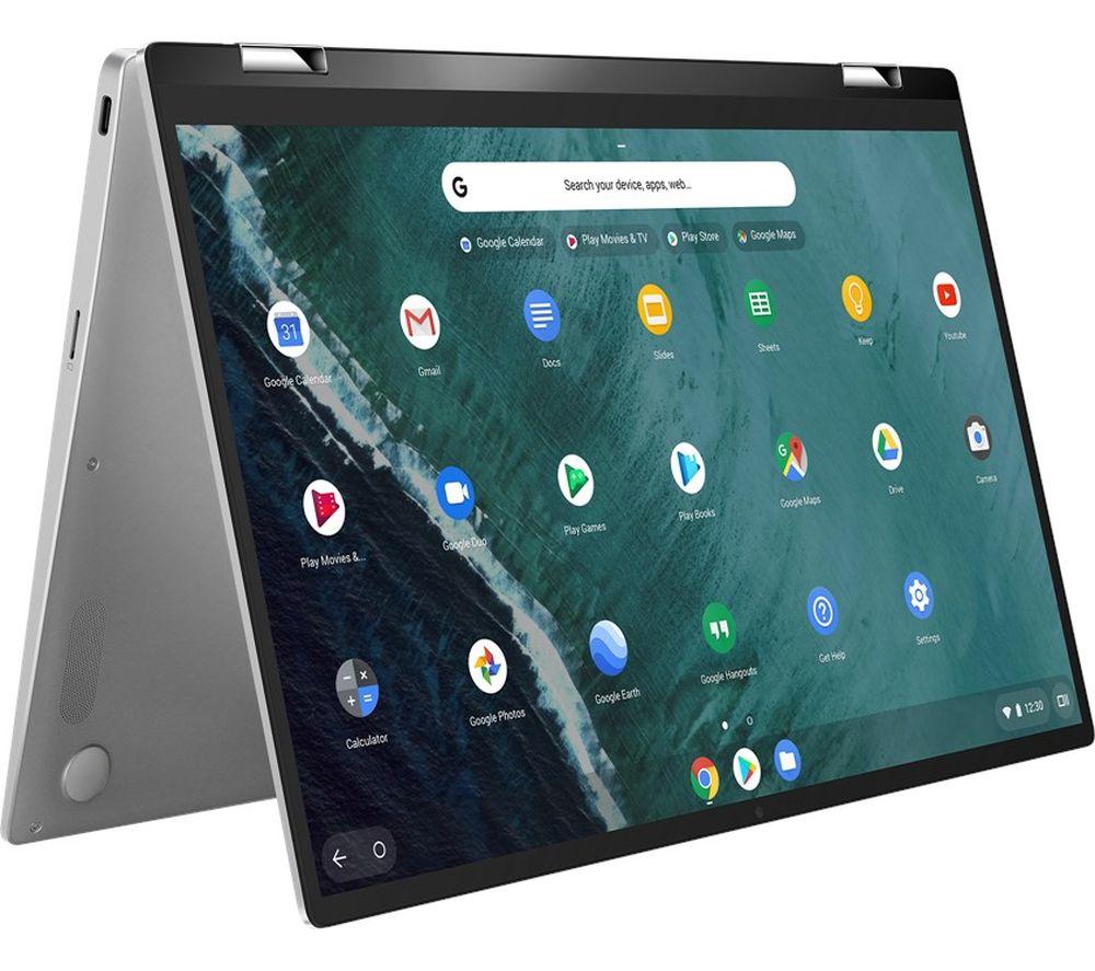 "ASUS Flip C434 14"" 2 in 1 Chromebook - Intel® Core™ m3, 128 GB eMMC, Silver"