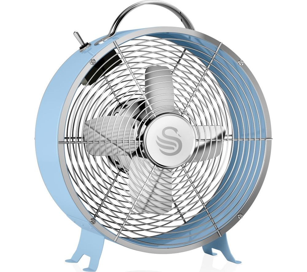 "SWAN Retro SFA12630BLN Portable 8"" Desk Fan - Blue"
