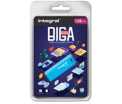INTEGRAL USB 2.0 Memory Stick - 128 GB, Blue