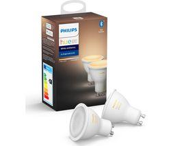 Hue White Ambiance Bluetooth LED Bulb - GU10, Twin Pack