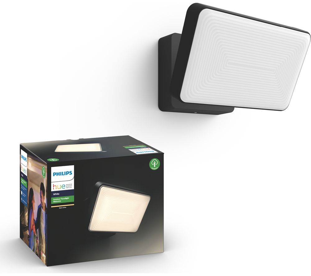 PHILIPS Hue Welcome Outdoor Floodlight - Black