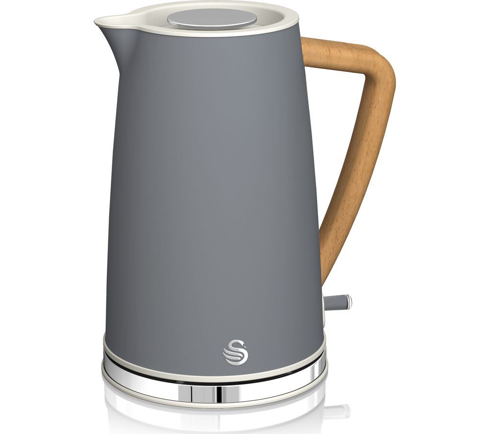 Image of Nordic Cordless SK14610GRYN Jug Kettle - Grey, Grey