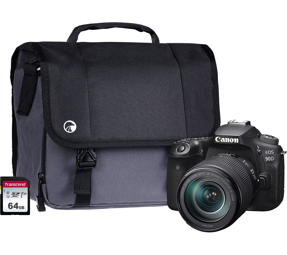 Canon Eos 90d Dslr Camera With Ef S 18 135 Mm F 35 56 Is Stm Lens 64 Gb Sd Card Bag Bundle