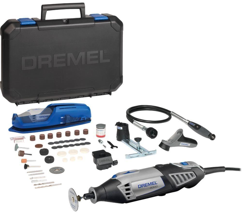 DREMEL 4000-4 65-Piece Multi-Tool Platinum Kit - Grey & Blue, Grey