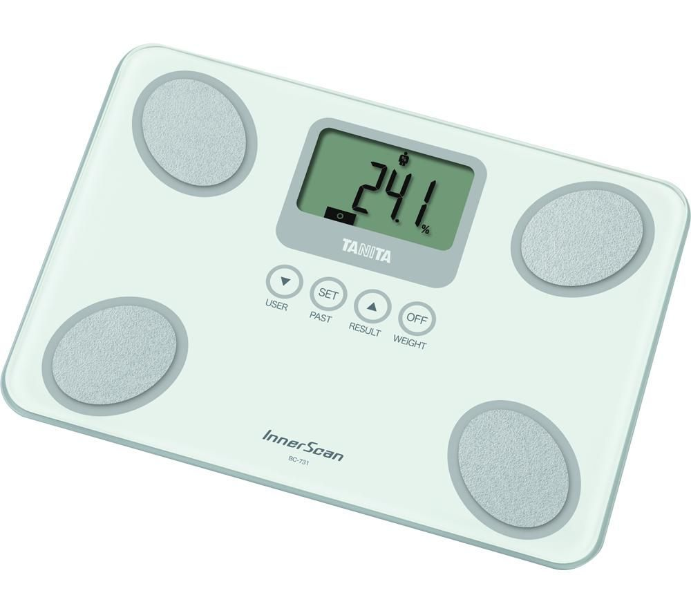 TANITA InnerScan BC-731-WH Digital Bathroom Scales - White, White