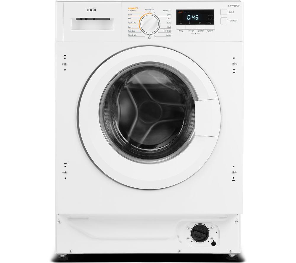 LOGIK LI8W6D20 Integrated 8 kg Washer Dryer