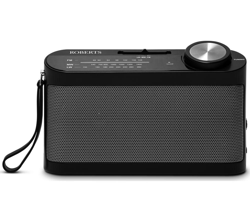 ROBERTS Classic 993 Portable FM Radio - Black, Black