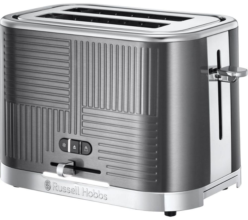 RUSSELL HOBBS Geo Steel 2-Slice Toaster - Silver