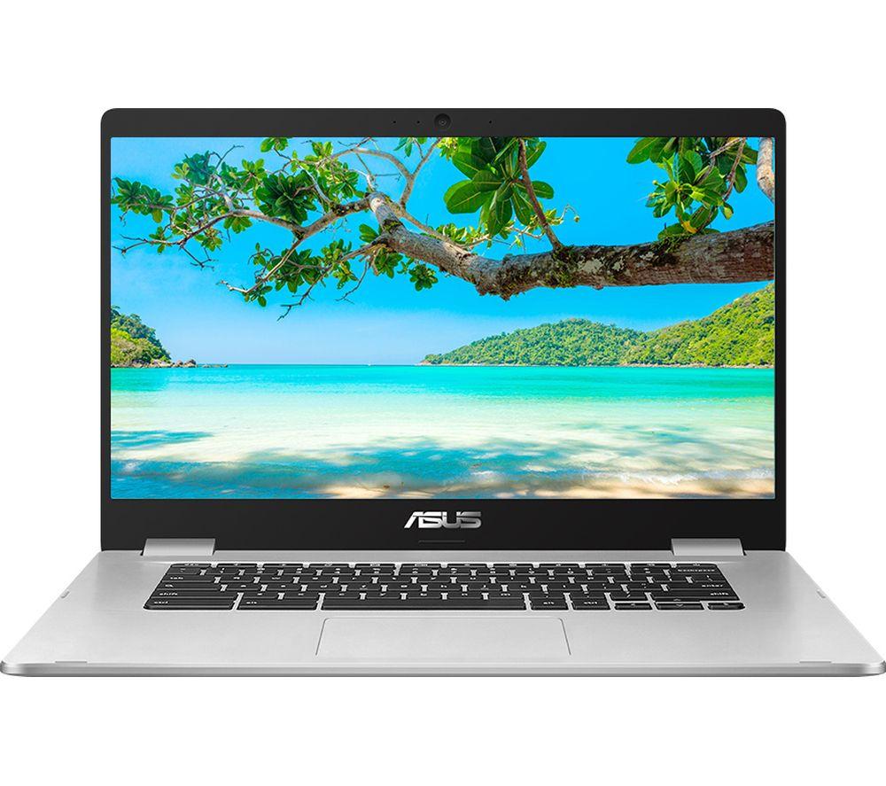 "Image of ASUS C523 15.6"" Chromebook - Intel®Celeron™, 64 GB eMMC, Silver, Silver"