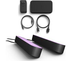 Hue Play HDMI Sync Box & Twin Pack Hue Play Light Bar Bundle - Black