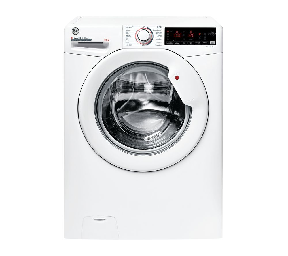 HOOVER H-Wash 300 H3W 68TME NFC 8 kg 1600 Spin Washing Machine - White, White