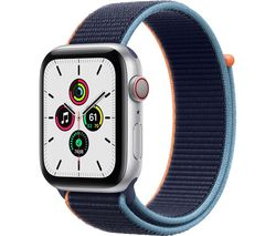 Watch SE Cellular - Silver Aluminium with Deep Navy Sports Loop, 40 mm