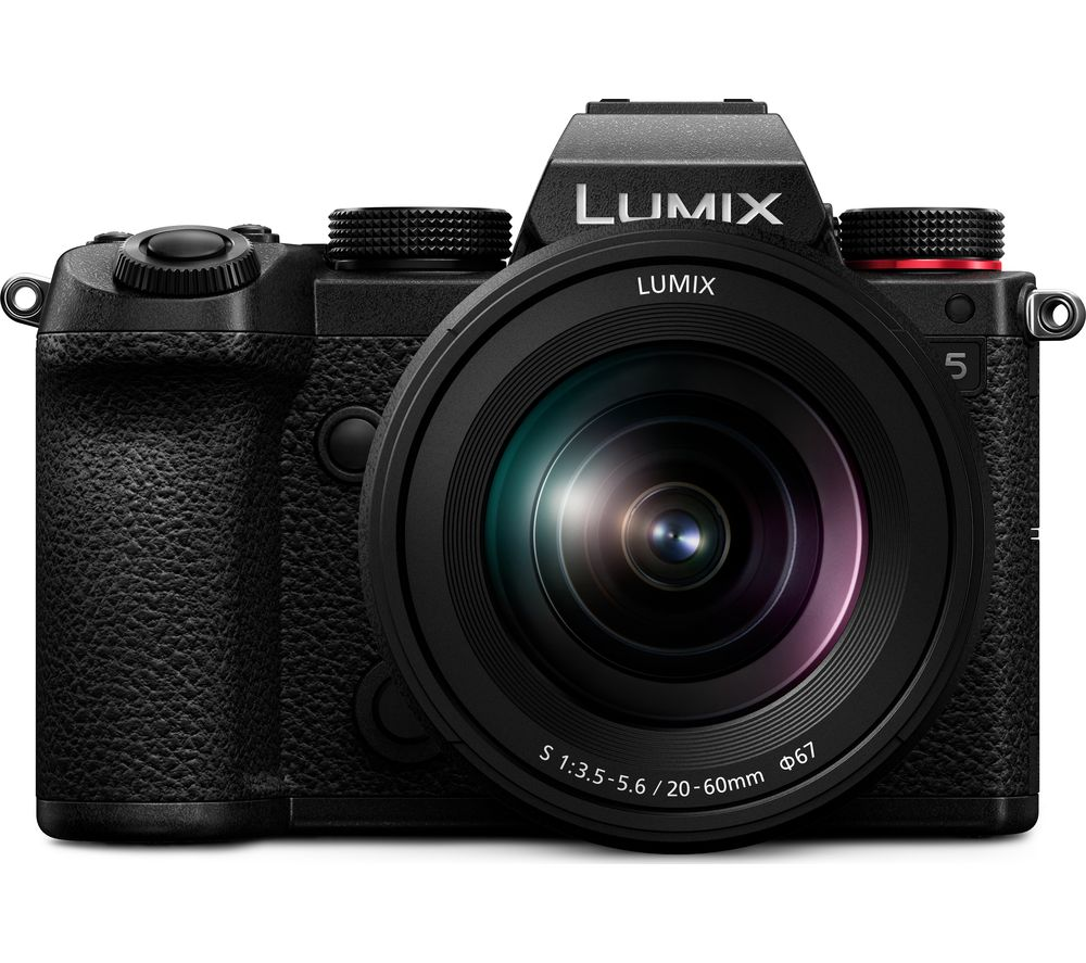 Click to view product details and reviews for Panasonic Lumix Dc S5e K Mirrorless Camera With 12 60 Mm F 35 56 Lens Black Black.