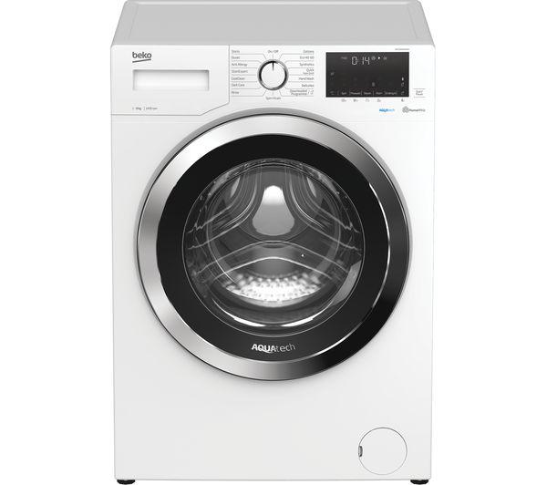 BEKO Aquatech WEX94064E0W Bluetooth 9 kg 1400 Spin Washing Machine - White