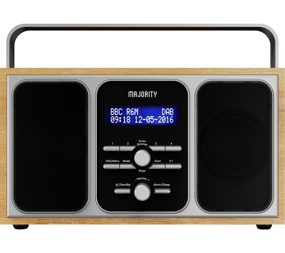 Image of MAJORITY GIR-DAB-OAK-2 Girton Portable DABﱓ Radio - Oak