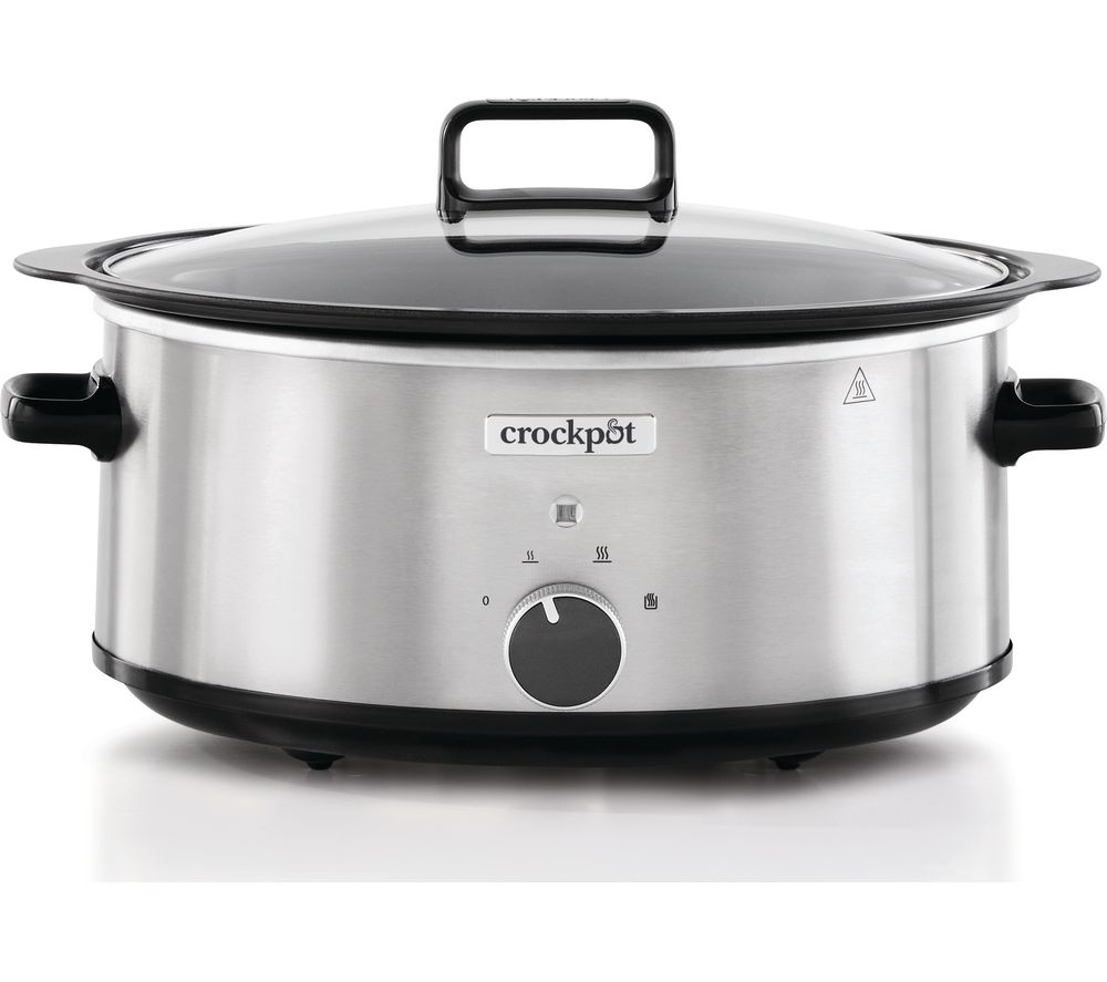 CROCK-POT Sizzle & Stew CSC086 Slow Cooker - Silver Stainless Steel, Stainless Steel