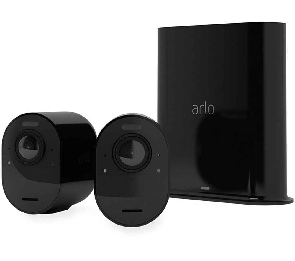 ARLO Ultra 2 4K Ultra HD WiFi Security Camera System - 2 Cameras, Black