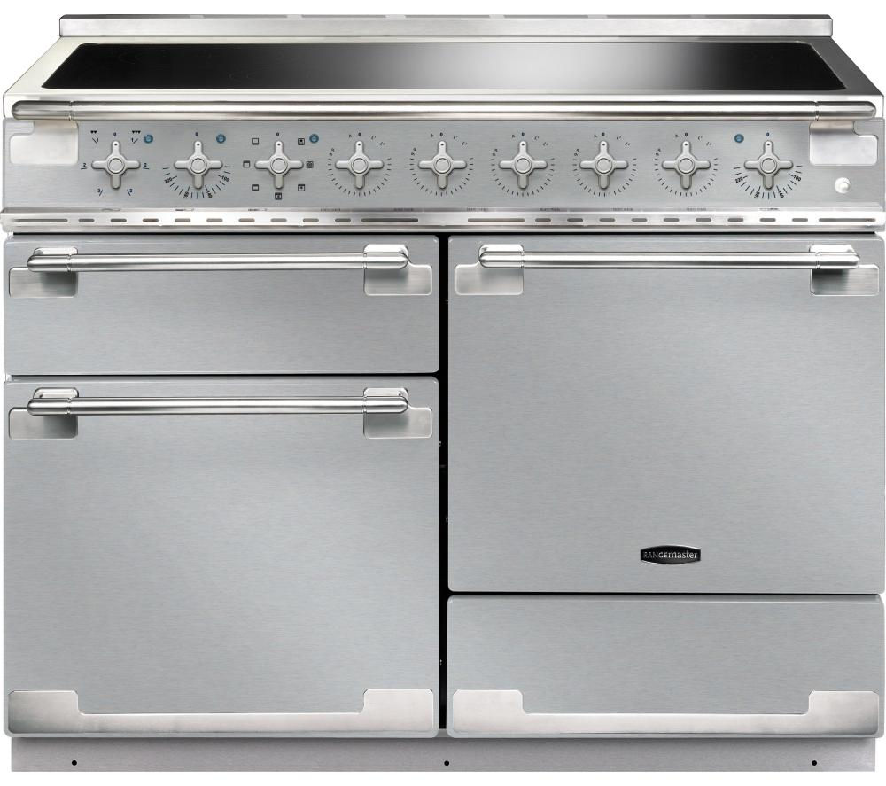 Image of RANGEMASTER Elise 110 Electric Induction Range Cooker - Stainless Steel & Chrome, Stainless Steel