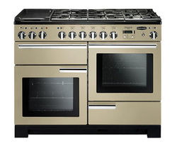 RANGEMASTER Professional Deluxe 110 Dual Fuel Range Cooker - Cream & Chrome