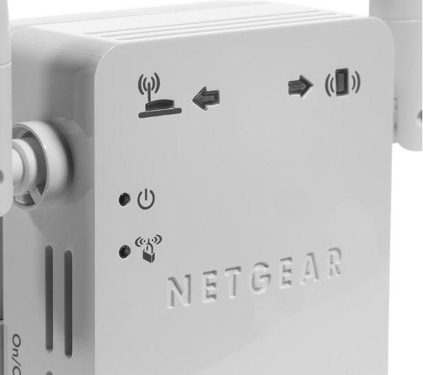 NETGEAR WN3000RP-200UKS WiFi Range Extender - N300, Single-band