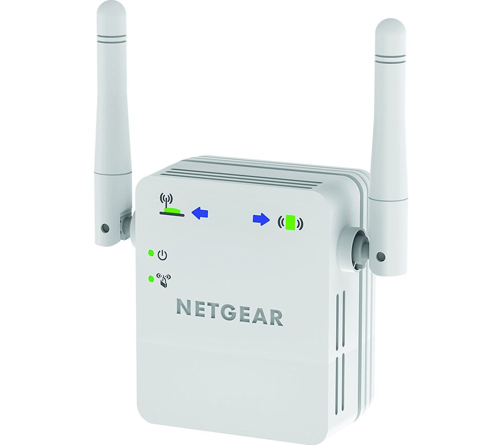 NETGEAR WN3000RP-200UKS WiFi Range Extender - N300, Single-band