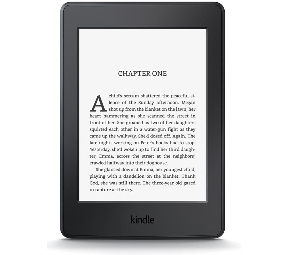 "Kindle Paperwhite 6"" eReader - 4 GB, Black + Kindle Paperwhite Leather Cover - Black"