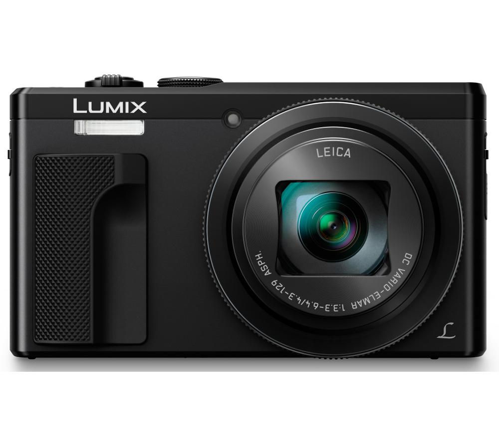 PANASONIC Lumix DMC-TZ80EB-K Superzoom Compact Camera - Black + SHCOMP13 Hard Shell Camera Case - Black