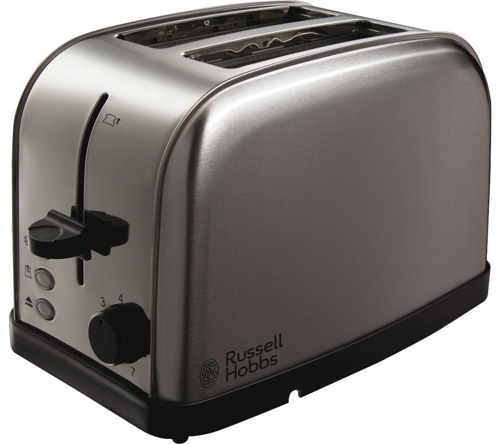 RUSSELL HOBBS Futura 18780 2-Slice Toaster - Brushed Steel