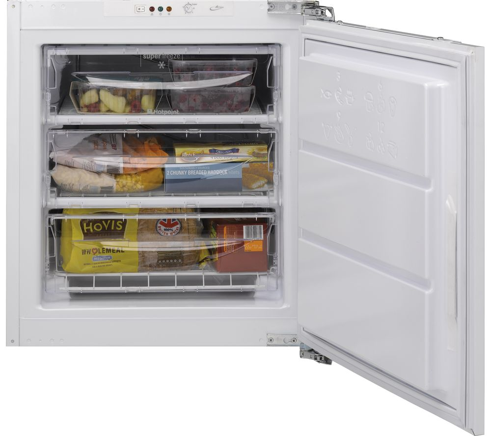 HOTPOINT HZ A1 Aquarius Integrated Undercounter Freezer - White