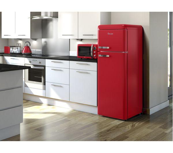 buy swan sr11010rn 70 30 fridge freezer red free. Black Bedroom Furniture Sets. Home Design Ideas