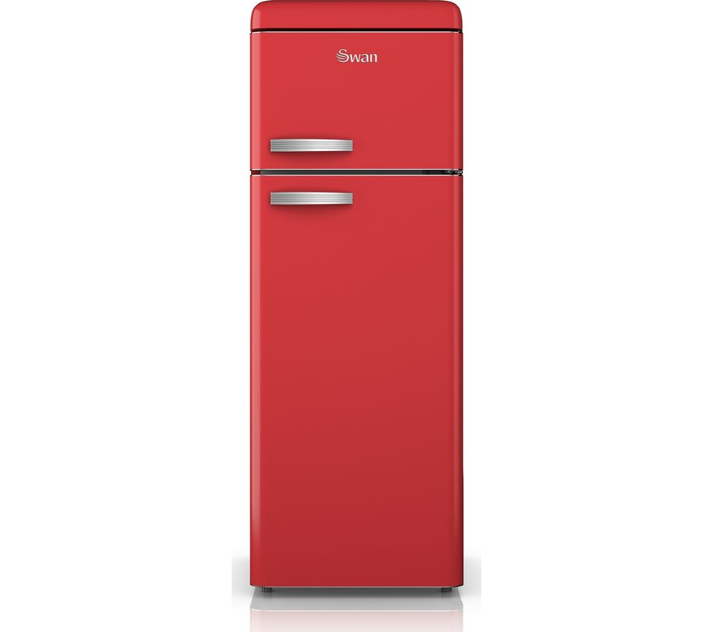 SWAN SR11010RN 80/20 Fridge Freezer - Red